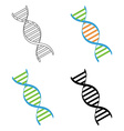 Dna set vector image