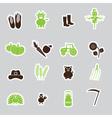 farm simple stickers set eps10 vector image