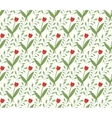 Floral seamless pattern Flowers repeating texture vector image