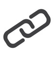 link building glyph icon seo and development vector image