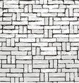 new brick wall of negative space vector image