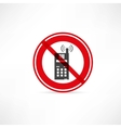 phone use is prohibited icon vector image