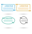 Quotation Speech banner Quote set icon vector image