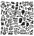 Thinking Science - doodles set vector image