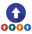 Upward direction arrow icon vector image