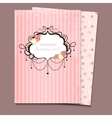 wedding card or invitation a4 vector image