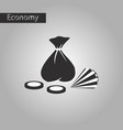 black and white style icon bag of jewels vector image