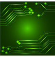 hi tech circuit board vector image