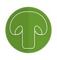 fresh mushroom isolated icon vector image