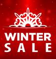 Winter sale Snowflake in pocket vector image