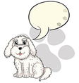 A cute puppy with an empty callout vector image vector image