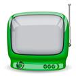 Green cute TV vector image