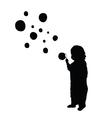child make bubble silhouette vector image