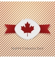 Happy Canada Day realistic Card Template vector image