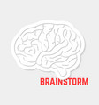 Brainstorm with white outline brain icon vector image