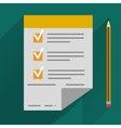 concept in flat style - agreement and pen vector image