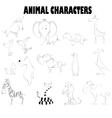 cute cartoons vector image