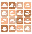 Elegant hats icon set vector image