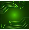 hi tech circuit board vector image