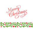 merry christmas calligraphy vector image