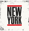 new york sportswear emblem athletic apparel vector image