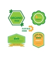 Set of logos for organic and natural food vector image