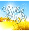 Thanksgiving autumn landscape vector image