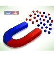 Red and Blue Horseshoe Magnet vector image