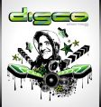 global music event background vector image vector image