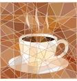 Coffee mosaic vector image