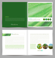 Template booklet design cover and inside pages vector image