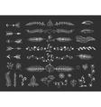 Boho hand drawn tribal elements vector image