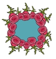 Banner of red roses vector image