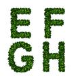 alphabet efgh vector image