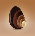 Chocolate shells vector