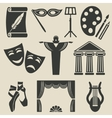art theater icons set vector image