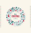 christmas wreath background vector image