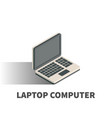 laptop computer icon symbol vector image