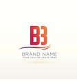letter b lovely logo design template vector image