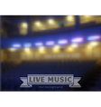 live music conctrt blur background vector image