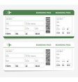 plane tickets green boarding pass and gate number vector image