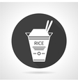 Rice takeaway black icon vector image
