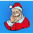Santa Claus Comic Style Design vector image