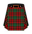 scottish tartan kiltthe men s skirt for the scots vector image