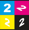 number 2 sign design template elements vector image
