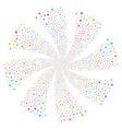 sun fireworks swirl rotation vector image