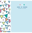 Colorful doodle bunting flags square torn seamless vector image vector image