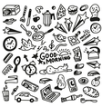 Good morning doodles - vector image vector image