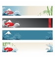 Set of japanese banners for design vector image