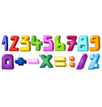 multicolor numbers vector image vector image